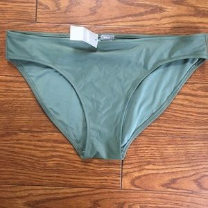 Aerie Green Bikini Bottom - medium